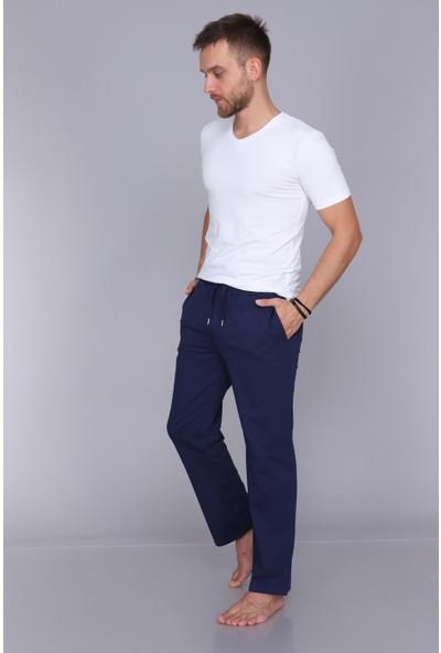 Obje Erkek Lacivert Uzun Pijama Altı
