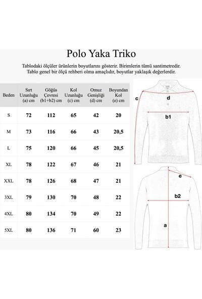 Hateko Klasik Kesim Açık Gri Yünlü Erkek Polo Yaka Triko