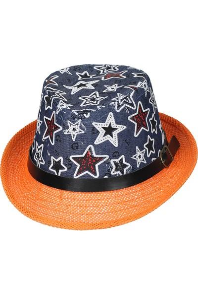 Kitti 6-12 Yaş Erkek Çocuk Hasır Fotr Şapka