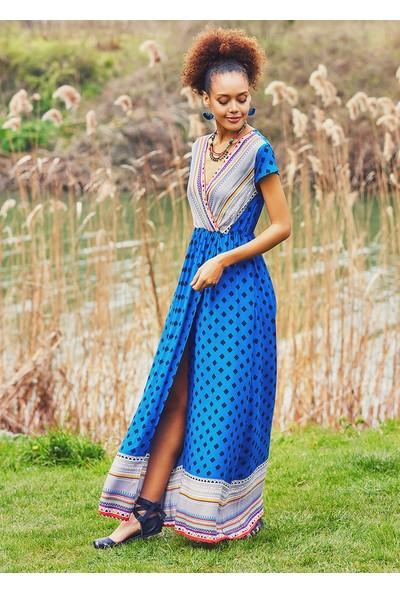Clandestino Kadın Etnik Desenli Otantik Elbise