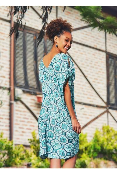 Clandestino Kadın Çiçekli Salaş Otantik Yazlık Elbise