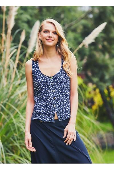 Clandestino Kadın Sırt Detaylı Bohem Bluz