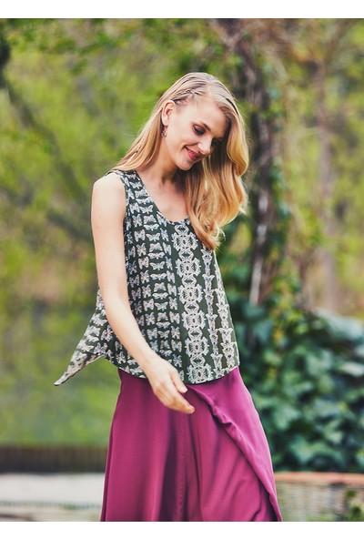 Clandestino Kadın Sırt Detaylı Otantik Bluz