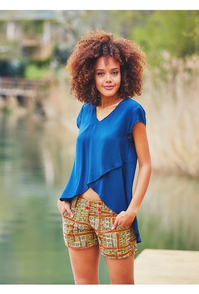 Clandestino Kadın Asimetrik Otantik Bluz