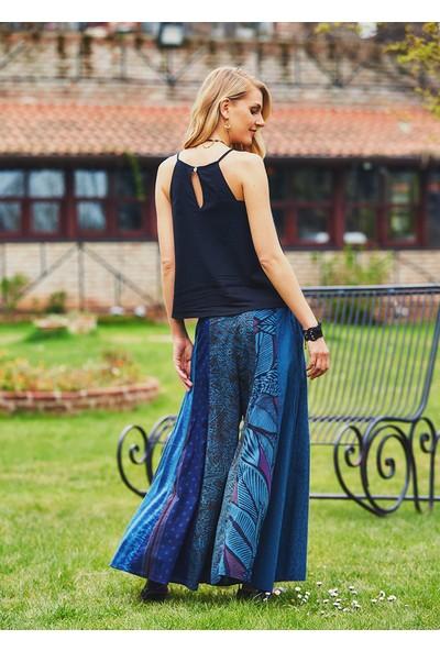Clandestino Kadın Patchwork Otantik Pantolon Etek