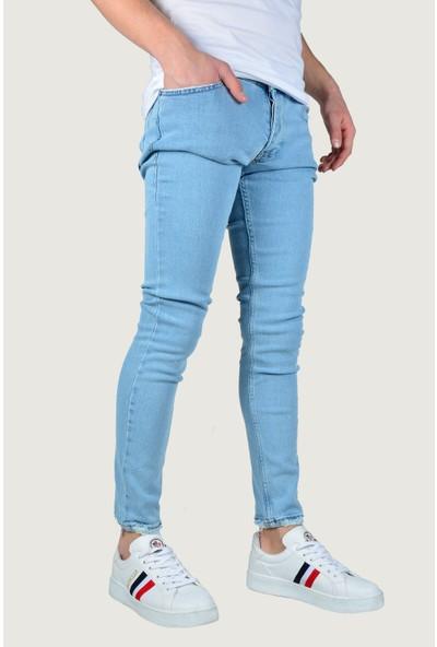 Terapi Men Erkek Kot Pantolon Likralı 9K-2100342-035 Buz Mavi