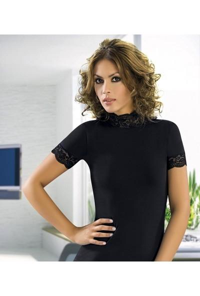 Anıt Balıkçı Yaka Dantelli Kadın T-Shirt 2180