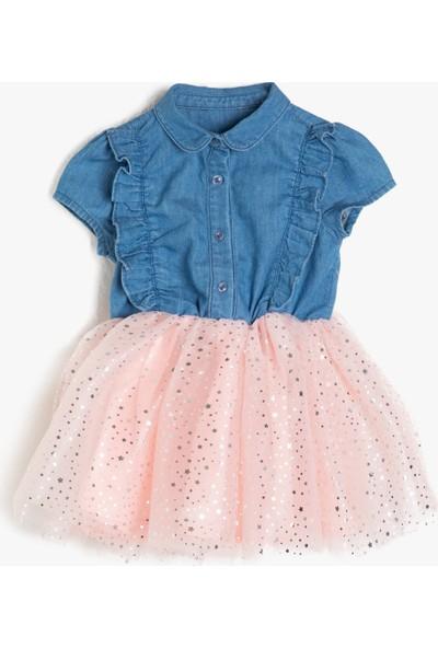 Koton Kız Bebek Jean Elbise