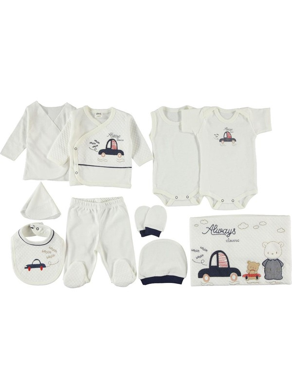 Civil Baby Erkek Bebek 10'lu Zıbın Seti Lacivert