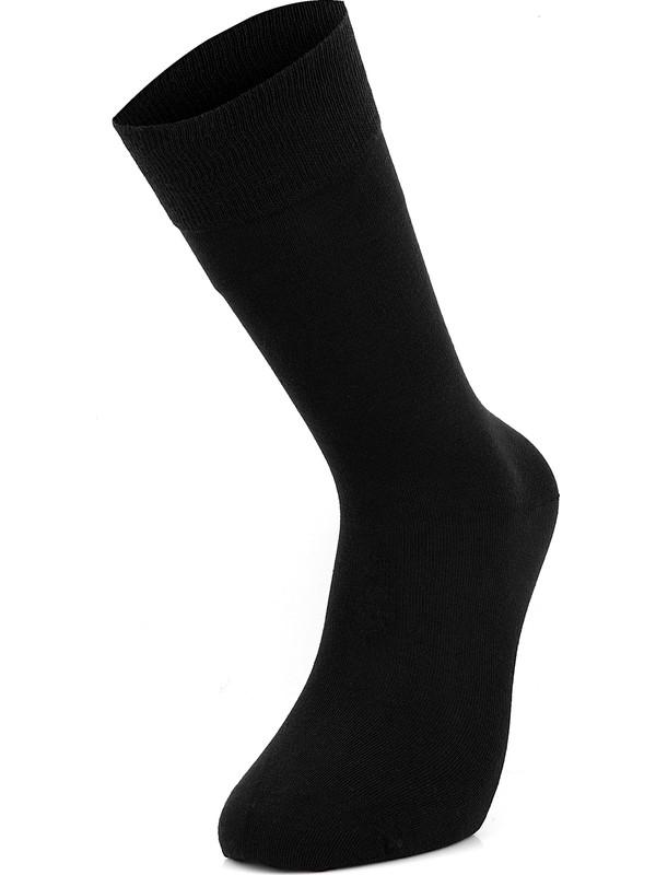Mısırlı Pamuk Düz 6'lı Erkek Çorap Dikişsiz 40 - 45 Numara
