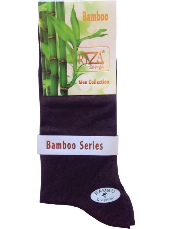Rıza Savcıoğlu Bambu Dikişsiz Erkek 12'li Çorap Kahverngi