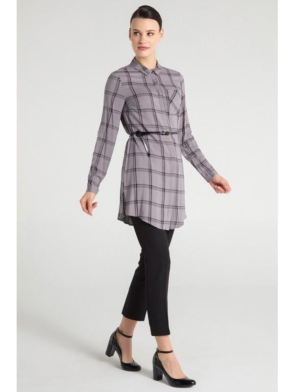 Pera Club 12W9T17204 Kadın Ekose Tunik Fiyatı - Taksit Seçenekleri