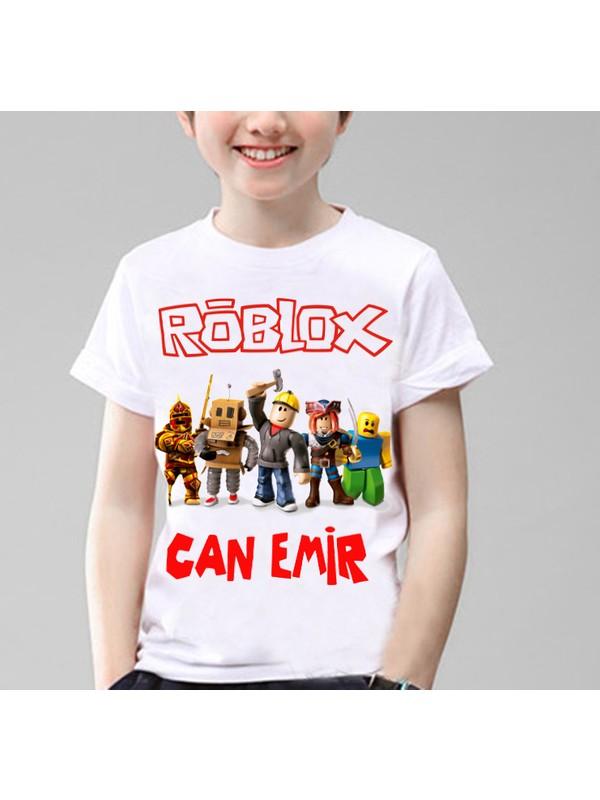 TakeTshirt İsim Yazılı Kişiye Özel Roblox Unisex Çocuk T-Shirt