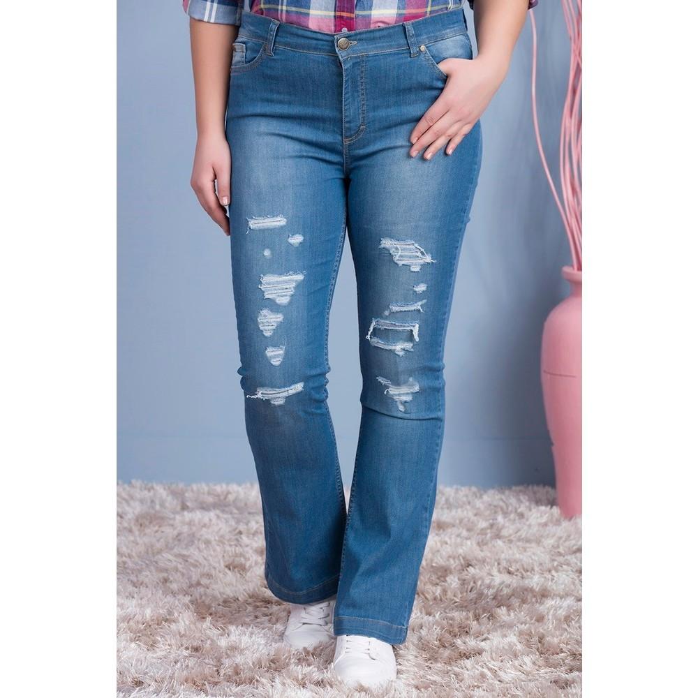 19fe0427f218c Rmg Kadın Büyük Beden Yırtıklı Kot Pantolon Mavi Bu Mudur?