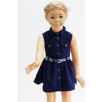 Varol Kids Kareli Kız Çocuk Elbisesi Lacivert 1 - 5 Yaş
