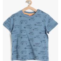 Koton Erkek Çocuk Baskılı T-Shirt Lacivert