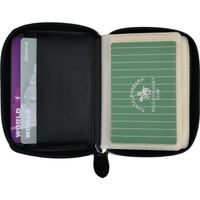 PoLo & Racquet Club Fermuarlı Siyah Deri Kartlık