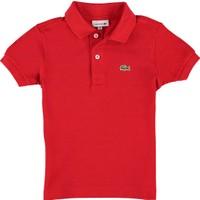 Lacoste Erkek Çocuk Kısa Kollu Polo T-Shirt Kırmızı L1812