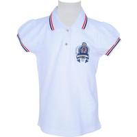 Zeyland Kız Çocuk Beyaz Polo Yaka T-Shirt - 71M4CRE53
