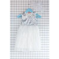 FullaModa Kız Çocuk Pullu Elbise 17Y17AKKU0059300