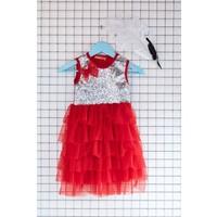 FullaModa Kız Çocuk Pullu Elbise 17Y17AKKU0059317