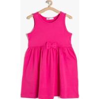 Koton Kız Çocuk Fiyonk Detaylı Elbise Fuşya