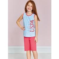 U.S. Polo Assn. Kız Garson Bermuda Pijama Takımı