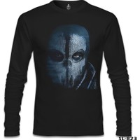 Lord T-shirt Call Of Duty Ghosts Mask Siyah Erkek Sweatshirt