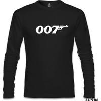 Lord T-shirt James Bond 007 Siyah Erkek Sweatshirt