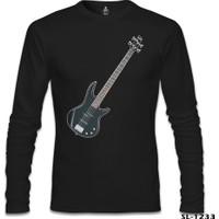 Lord T-shirt Gitar Bass Siyah Erkek Sweatshirt