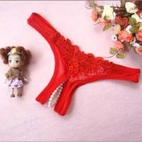 Virtual Kırmızı Taşlı Tanga İç Çamaşırı İç Giyim
