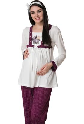Şık Mecit 1616 Puantiyeli Hamile Lohusa Üçlü Pijama Takım