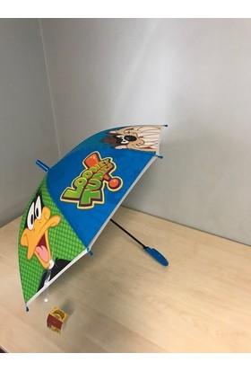 Rainwalker Looney Tunes Cizgi Film Karaterli Tasarım Çocuk Şemsiye