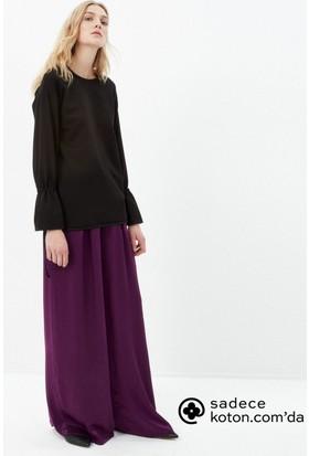 Koton Kadın Düz Sweatshirt Siyah