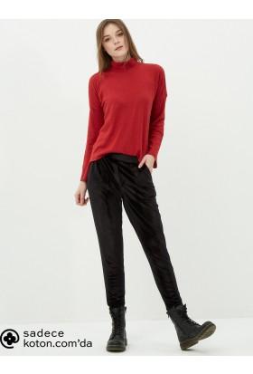 Koton Kadın Slim Fit Pantolon Siyah