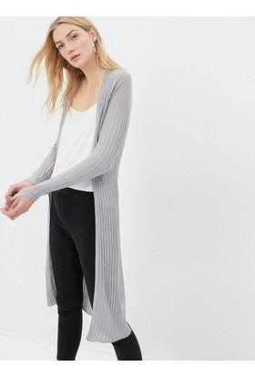 Koton Kadın Uzun Hırka Gri