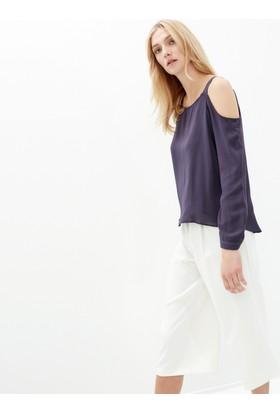 Koton Kadın Omuz Detaylı Bluz Lacivert