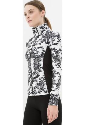 Koton Kadın Desenli Sweatshirt Siyah
