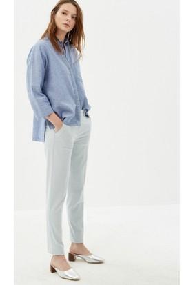 Koton Kadın Düz Pantolon Açık Mavi