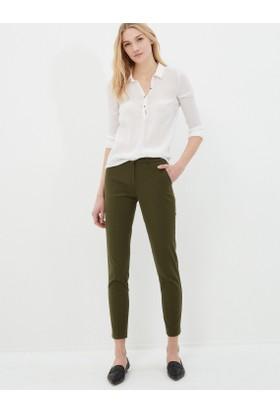 Koton Kadın Düz Pantolon Haki