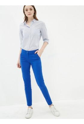 Koton Kadın Düz Pantolon Saks