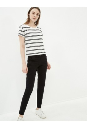 Koton Kadın Düz Pantolon Siyah
