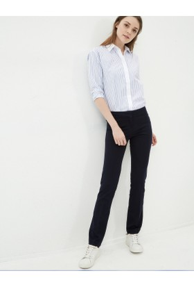 Koton Kadın Düz Pantolon Lacivert