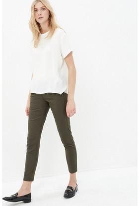 Koton Kadın Slim Fit Pantolon Haki