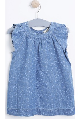Soobe Pop Girls Kız Çocuk Denim Elbise Açık Mavi
