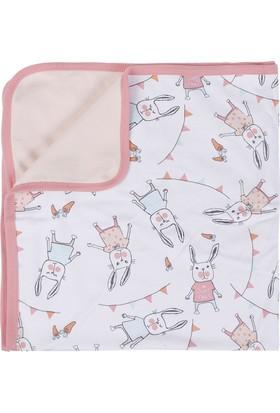 Soobe Kız Çocuk Newborn Battaniye Açık Pembe