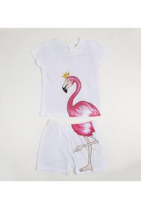 Soobe Pop Girls Kız Çocuk T-Shirt Şort Set Beyaz