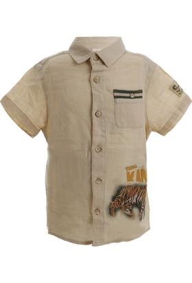Soobe Safari Team Erkek Çocuk Kısa Kol Gömlek Ekru