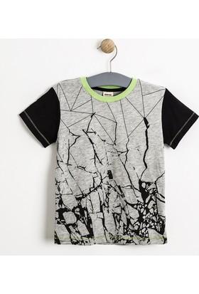 Soobe Erkek Çocuk T-Shirt Gri Melanj