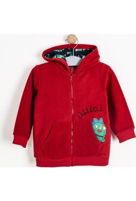 Soobe Erkek Çocuk Newborn Sweatshirt Kırmızı
